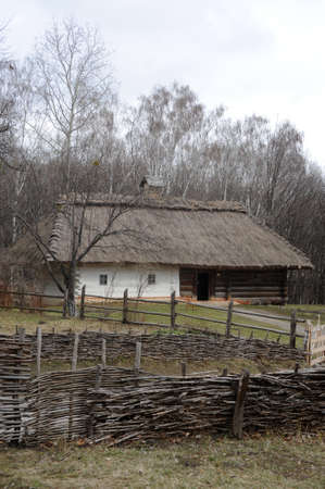 photo of an old wooden house and a small yard Stock Photo - 17899653