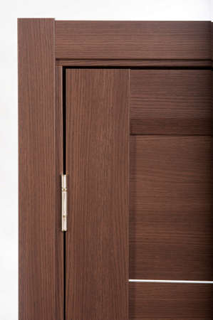 Photo of interior doors with the handle of real wood
