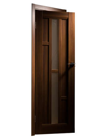 Photo Of Interior Doors With The Handle Of Real Wood Stock Photo
