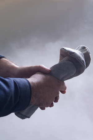 Man's hands at work Stock Photo - 18784331