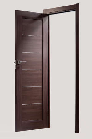 Photo Stylish Interior Doors With Real Wood Stock Photo Picture And