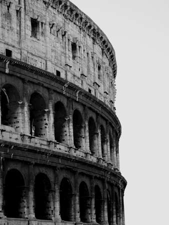 Photo of the ancient Roman architecture in Italy the Colosseum photo