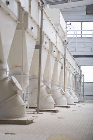Photo of a big industrial feed mill where grain is processed photo
