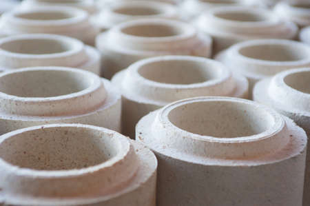 Photo refractory bricks which are used in the construction of furnaces for vysokogradusnyh