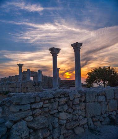 historic site: Historic site Crimea - Hersonissos. Sevastopol. Stock Photo