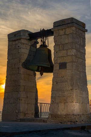 Landmark bells at Chersonesos. Crimea Stock Photo