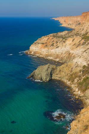 azure coast: Azure coast of Crimea on the beach Phiolent