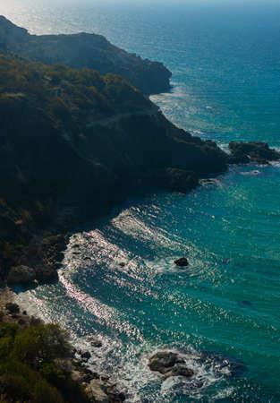 azure coast: Azure coast of Crimea Stock Photo