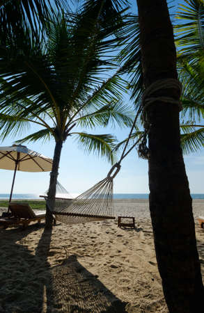 Beautiful beach in Goa. India Stock Photo