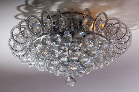 chandeliers: Details of glass chandeliers