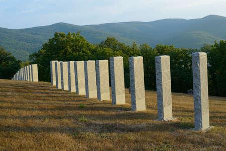 German military cemetery in the Crimea near Sevastopol Stock Photo