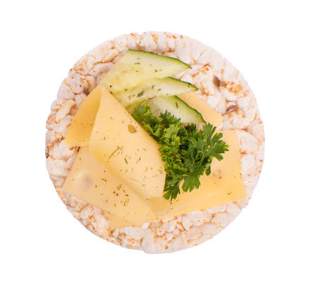 Sandwich with cheese and parsley on bread Stock Photo