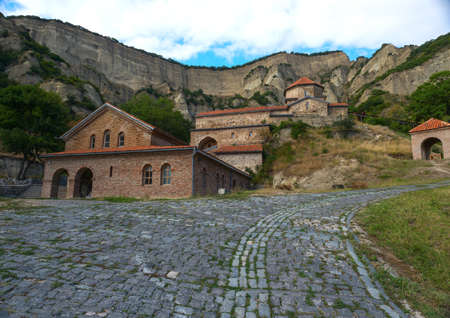 Ancient Orthodox monastery in the mountains. Georgia