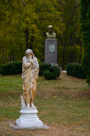 Shevchenko monument in the reserve Kachanivka. Ukraine