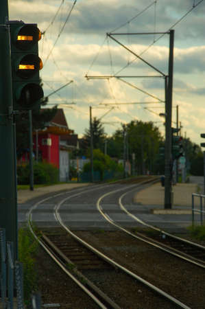 Railway in a small town in Germany