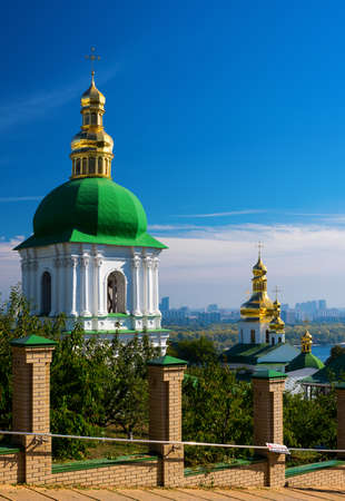 Kiev-Pechersk Lavra against the blue sky