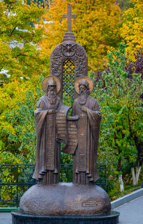 Monument to Antony and Theodosius in Kiev-Pechersk Lavra
