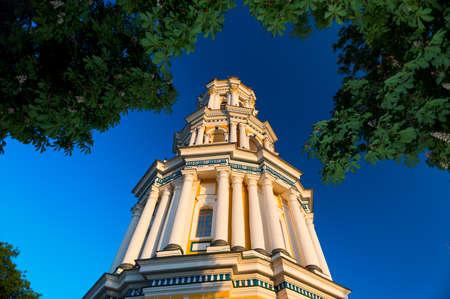 Belfry in the courtyard of the Kiev-Pechersk Lavra.