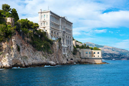Picturesque landscape in Monaco overlooking the sea. Stock Photo