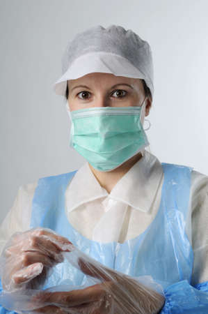 woman working in food industry photo