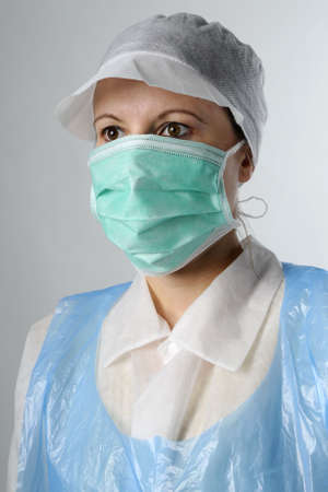 woman wearing protection equipment Stock Photo - 6053321