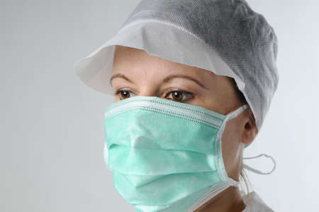 portrait of woman wearing mask protection Stock Photo - 6053333