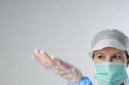 seus worker with plastic gloves Stock Photo - 6053349