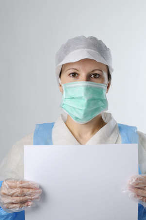 worker showing white document Stock Photo - 6053345