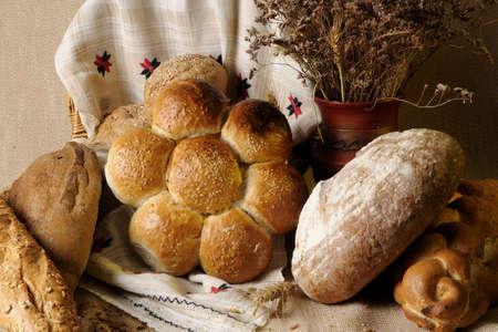unsliced: closeup with bread