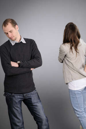two business man and woman having conflict Stock Photo - 8303330
