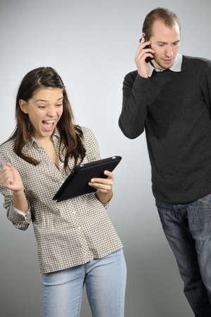 gente comunicandose: j�venes de comunicaci�n