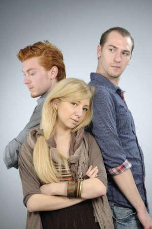 expressing: three teens expressing friendship
