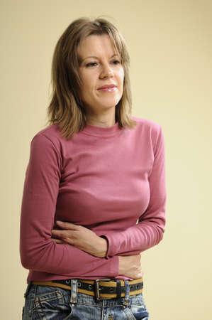 cramps: woman hving cramps