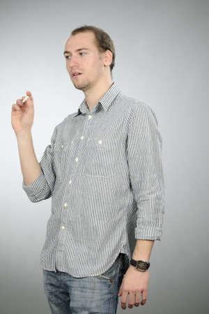 student smoking cigarette photo