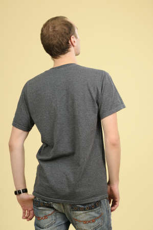 back of white male
