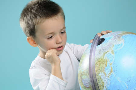 kid learning  earth