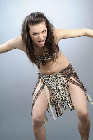 krachtige vrouw: krachtige vrouw vechter Stockfoto