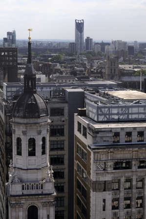 exterior of towers and buildings from london uk photo