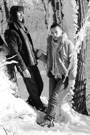 seus teens relaxing in winter Stock Photo - 8447913
