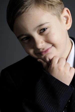 little boy smiling portrait