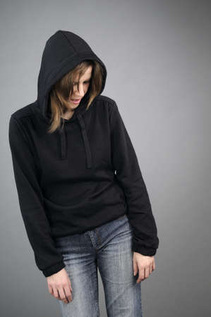 depressive: depressive woman suffering