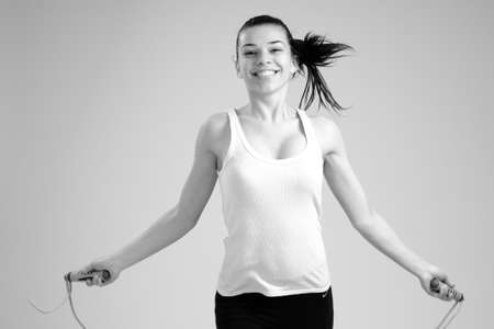 girl jumping rope photo