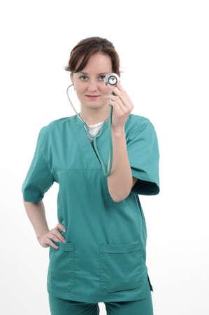 Arzt arbeiten mit Stethoskop Standard-Bild - 9263539