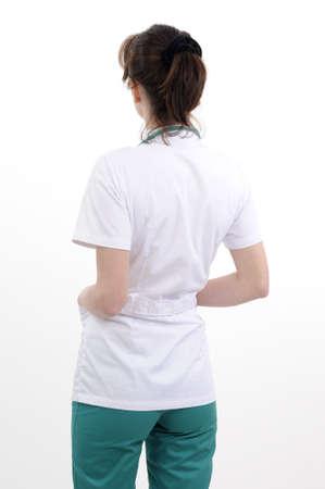 Rückseite des jungen Arzt arbeiten Standard-Bild - 9263536