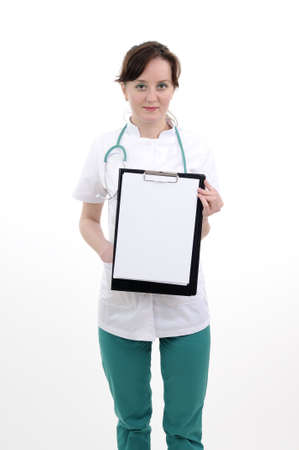 Weiße Arzt für das Schreiben von Rezept vorbereiten Standard-Bild - 9263550