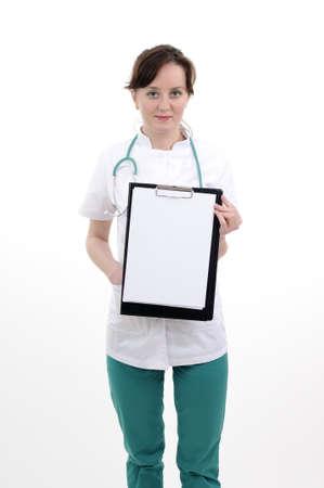 weiße Arzt für das Schreiben von Rezept vorbereiten