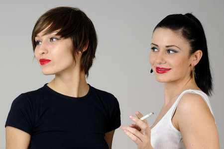 young people smoking together Stock Photo - 9672884