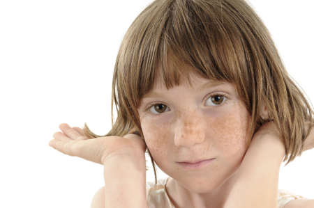 freckled: freckled child portrait