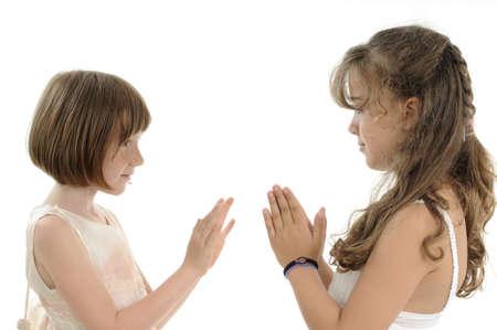 two children playing in studio Stock Photo - 9739434