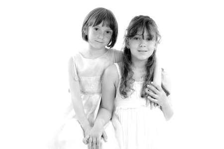 beautiful smiling sisters portrait Stock Photo - 9739368